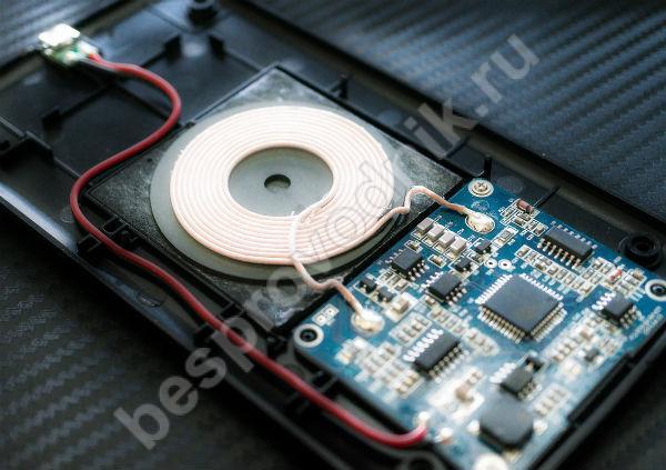 Индукционная катушка приемника беспроводной зарядки